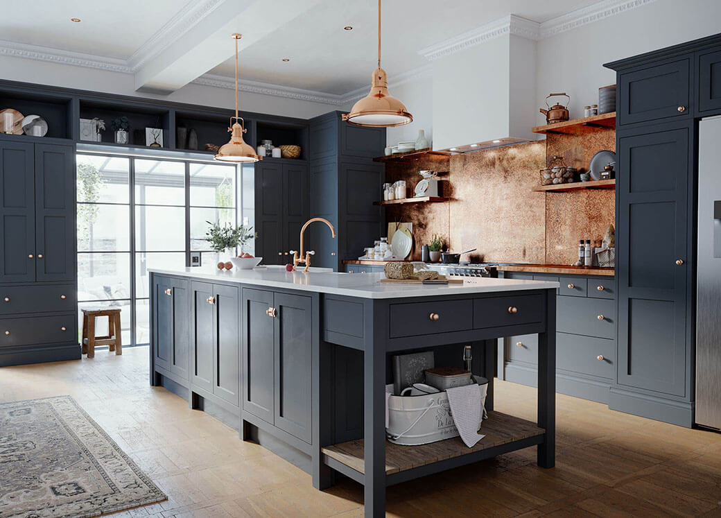 The Adela Collection of Handmade Kitchen Cabinets