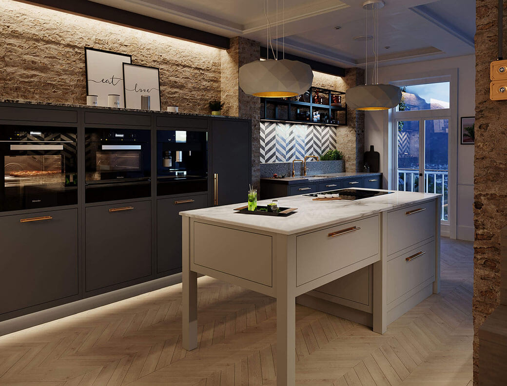 The Lanyon Collection of Handmade Kitchen Cabinets